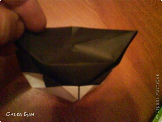 Киски-оригами. Они могут открывать рты, если нажать с двух сторон. Делаем из квадрата, полученного из листа формата А4 (стандартный лист) фото 31