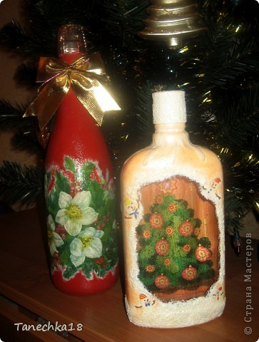 Бутылочки делала маме на новогодний стол.  фото 1
