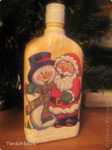 Бутылочки делала маме на новогодний стол.  фото 7