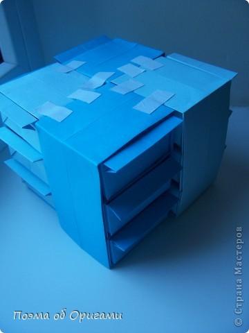 Вдохновением для этой работы послужили уже широко известные комодики, складывающиеся из спичечных коробков. Этот оригами-комод я придумала сама. Он складывается из стандартных А4 листов. Для данного примера было использовано таких 10шт.  Этот способ достаточно расширяет возможности и прежде всего - это размер готового изделия.  Для начала потребуется немного терпения и вдохновения))  А вот идеи по оформлению мини-комодов жителями Страны здесь: http://stranamasterov.ru/node/41405 http://stranamasterov.ru/node/66644 http://stranamasterov.ru/node/63054 http://stranamasterov.ru/node/6078 http://stranamasterov.ru/node/60443 http://stranamasterov.ru/node/48287 http://stranamasterov.ru/node/67696 http://stranamasterov.ru/node/40303 http://stranamasterov.ru/node/111164 http://stranamasterov.ru/node/139152 http://stranamasterov.ru/node/140311 фото 34