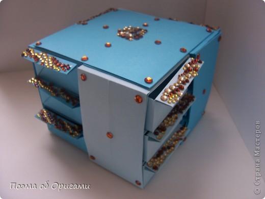 Вдохновением для этой работы послужили уже широко известные комодики, складывающиеся из спичечных коробков. Этот оригами-комод я придумала сама. Он складывается из стандартных А4 листов. Для данного примера было использовано таких 10шт.  Этот способ достаточно расширяет возможности и прежде всего - это размер готового изделия.  Для начала потребуется немного терпения и вдохновения))  А вот идеи по оформлению мини-комодов жителями Страны здесь: http://stranamasterov.ru/node/41405 http://stranamasterov.ru/node/66644 http://stranamasterov.ru/node/63054 http://stranamasterov.ru/node/6078 http://stranamasterov.ru/node/60443 http://stranamasterov.ru/node/48287 http://stranamasterov.ru/node/67696 http://stranamasterov.ru/node/40303 http://stranamasterov.ru/node/111164 http://stranamasterov.ru/node/139152 http://stranamasterov.ru/node/140311 фото 42