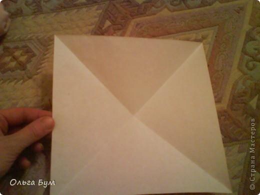 Рыбка золотая. Оригами. Делаем из квадрата полученного из листа формата А4 (квадрат получается 20х20 см) фото 2