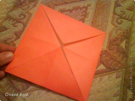 Рыбка золотая. Оригами. Делаем из квадрата полученного из листа формата А4 (квадрат получается 20х20 см) фото 3