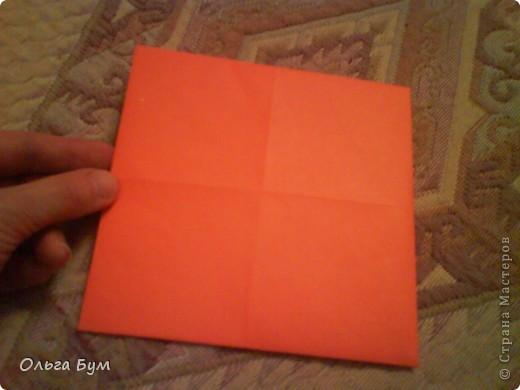 Рыбка золотая. Оригами. Делаем из квадрата полученного из листа формата А4 (квадрат получается 20х20 см) фото 4