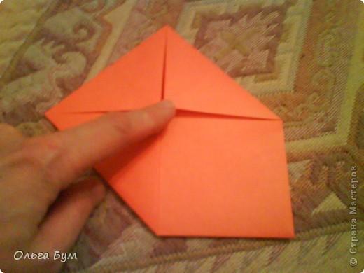 Рыбка золотая. Оригами. Делаем из квадрата полученного из листа формата А4 (квадрат получается 20х20 см) фото 5