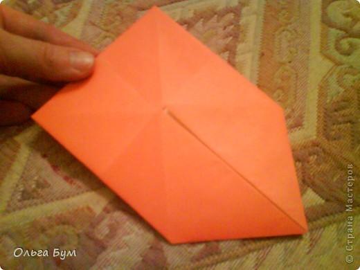 Рыбка золотая. Оригами. Делаем из квадрата полученного из листа формата А4 (квадрат получается 20х20 см) фото 6
