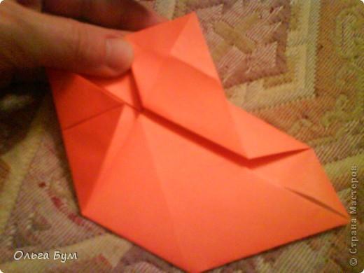 Рыбка золотая. Оригами. Делаем из квадрата полученного из листа формата А4 (квадрат получается 20х20 см) фото 8