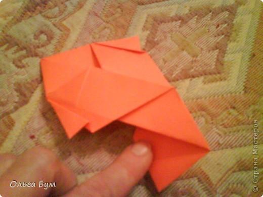 Рыбка золотая. Оригами. Делаем из квадрата полученного из листа формата А4 (квадрат получается 20х20 см) фото 10