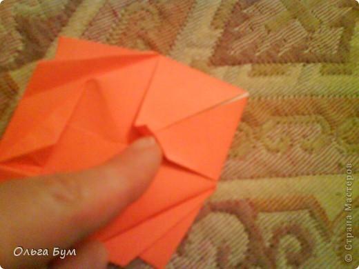 Рыбка золотая. Оригами. Делаем из квадрата полученного из листа формата А4 (квадрат получается 20х20 см) фото 14