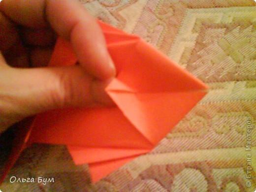 Рыбка золотая. Оригами. Делаем из квадрата полученного из листа формата А4 (квадрат получается 20х20 см) фото 15