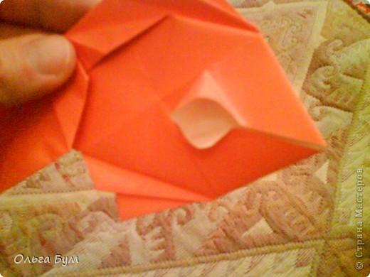 Рыбка золотая. Оригами. Делаем из квадрата полученного из листа формата А4 (квадрат получается 20х20 см) фото 16