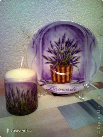 Еще один комплект тарелочек в паре со свечами. Здесь использована скорлупа и декупажная карта. Все покрыто акриловой краской, затем лаком. фото 9