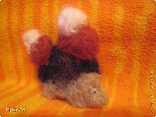 Валяшечка ёжик (игрушку сваляла моя 8-летняя дочь Марина )