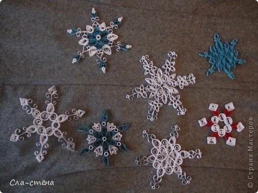 Квиллинг-снежинки фото 1