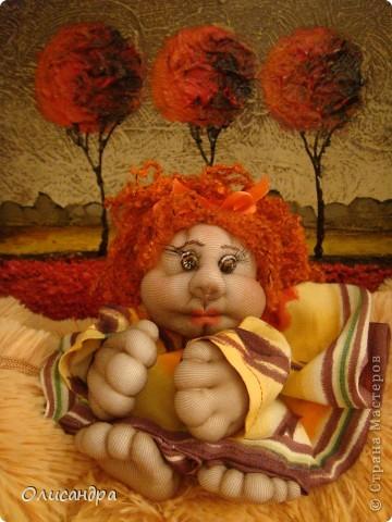 Благодаря Ликме, полюбила текстильные игрушки...Больше всего понравилось делать попиков.Это моя вторая куколка... фото 2