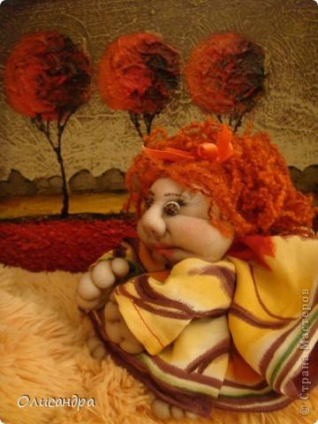 Благодаря Ликме, полюбила текстильные игрушки...Больше всего понравилось делать попиков.Это моя вторая куколка... фото 3