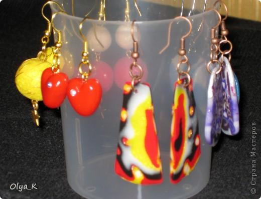 Вот наделала сережек на подарки девчонкам к НГ :-) фото 2
