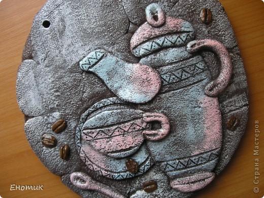 Здравствуйте! Танюшка-повторюшка сделала два кофейных панно по мастер-классам Дианы. Первое для сестры мужа. фото 5
