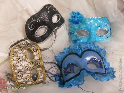 Это те самые маски! только синею в правом нижнем углу делала моя сестра)) фото 1
