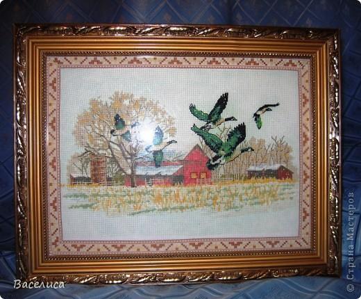 """Картина """"Зимний полет"""" Вышивка крестом"""