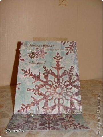 Эти снежинки ОЧЕНЬ нравятся - поэтому и открытки все одинаковые... фото 4