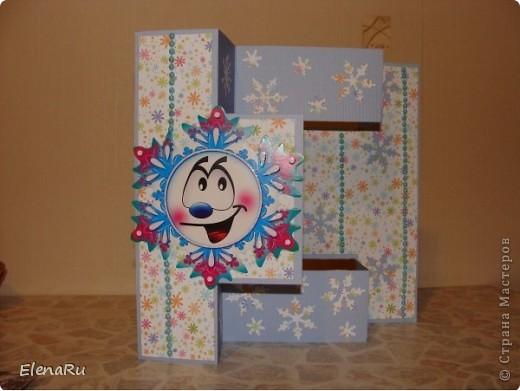 Эти снежинки ОЧЕНЬ нравятся - поэтому и открытки все одинаковые... фото 1