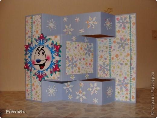 Эти снежинки ОЧЕНЬ нравятся - поэтому и открытки все одинаковые... фото 2
