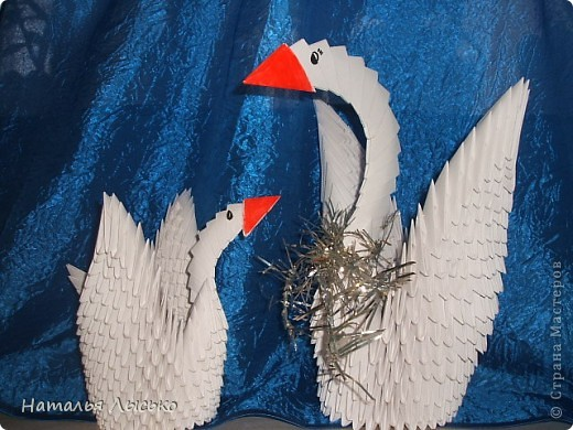 На работе все увлеклись этими лебедями. Кто для себя ,кто в подарки.И я тоже попробовала!!! фото 2