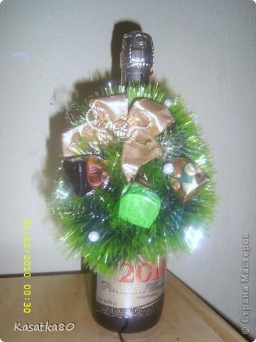 Украшение на бутылку шампанского