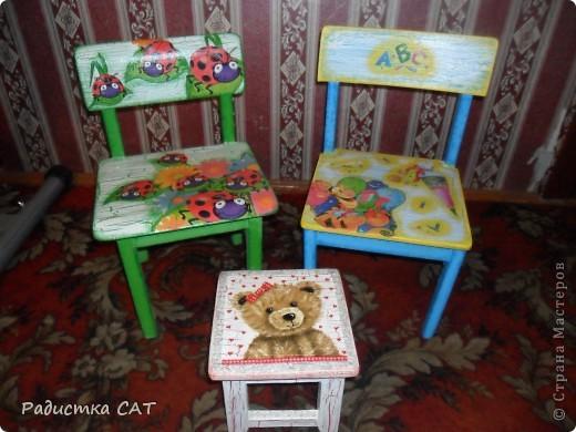 Этот стульчик сделала для друзей, точнее для их маленького сыночка. фото 3