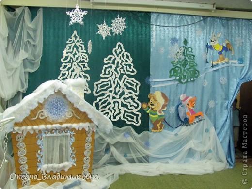 Дизайн детского сада к новому году