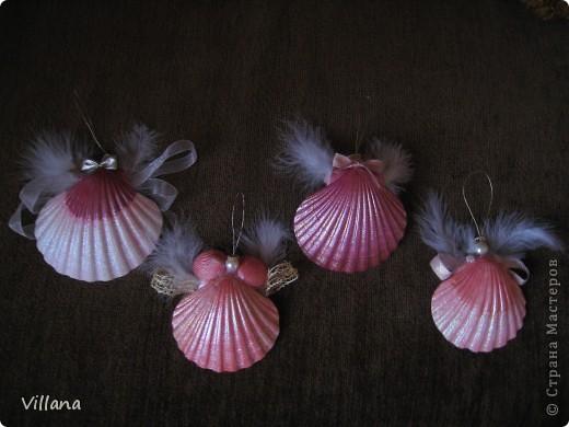 Ангелочки из ракушек фото 1