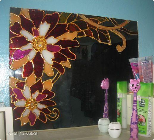 Зеркало в ванной. Уныло как-то у нас ванной комнате было, захотелось добавить цвета.. фото 1