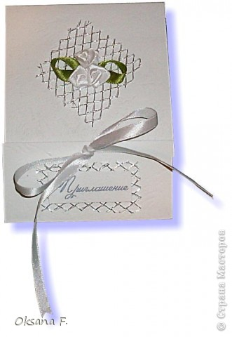 Этот пост посвящается приглашениям на свадьбу.  Сделала несколько вариантов на выбор заказчика... фото 2