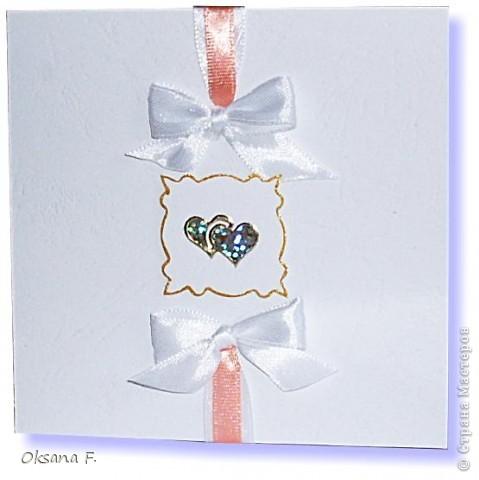 Этот пост посвящается приглашениям на свадьбу.  Сделала несколько вариантов на выбор заказчика... фото 4