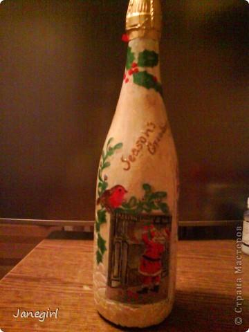 Бутылочка, навеянная Рождеством фото 1