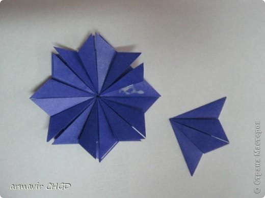 """Первая группа делала модули """"Шаттлл"""" и собрала на клей звезду из 8 модулей. фото 1"""