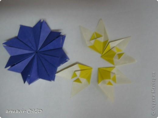 """Первая группа делала модули """"Шаттлл"""" и собрала на клей звезду из 8 модулей. фото 3"""