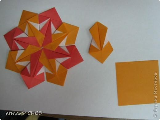 """Первая группа делала модули """"Шаттлл"""" и собрала на клей звезду из 8 модулей. фото 5"""