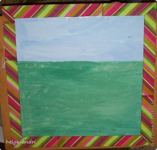Рамка для картины из потолочной плитки. фото 1