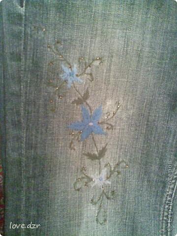 Вышивка вышивка на джинсах