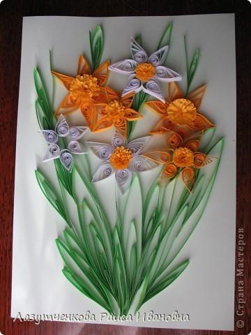 """Корзина с цветами. По книге Светланы Букиной """"Квиллинг: волшебство бумажных завитков"""" фото 7"""