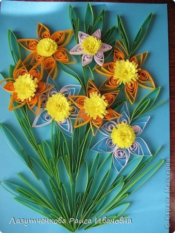 """Корзина с цветами. По книге Светланы Букиной """"Квиллинг: волшебство бумажных завитков"""" фото 8"""