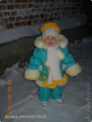 Дочка на первой прогулке в новом наряде. фото 1