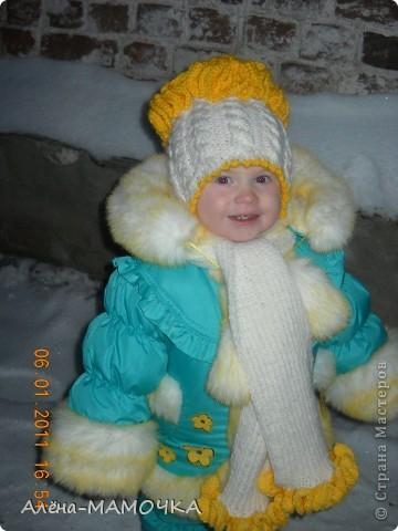 Дочка на первой прогулке в новом наряде. фото 2