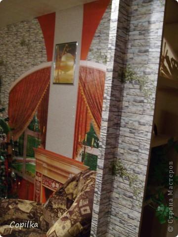 К Новому году мы практически успели сделать ремонт.Всё сделано руками моего мужа!Весь дизайн,исполнение-всё делал сам,я на подхвате!Сам делал подвесные потолки,электрику,мебель вся-самодельная!Я ещё нарадоваться не могу!Муж-СУПЕР!!!! фото 9