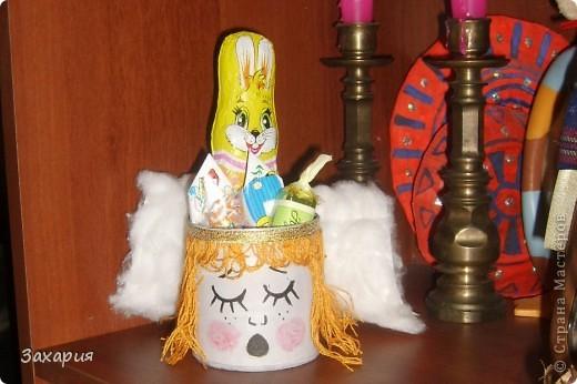 Сделала для дочки такой маленький рождественский подарочек. Увидела на просторах, так мне запала эта ангельская поющая головка с крылышками, что решила, сделаю и подарю детке....