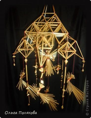 Такими подвесными соломенными конструкциями украшали избы наши предки в Рождество. С праздником!  фото 1