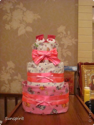Торт из подгузников фото 1