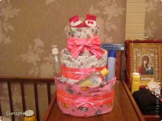 Торт из подгузников фото 2
